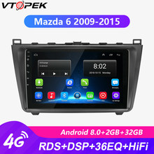 Vtopek 9 2 Din Android Wifi 4G Car Radio for Mazda 6 2009-2015 2G+32G Navigation GPS HIFI RDS DSP Touch Screen with Frame