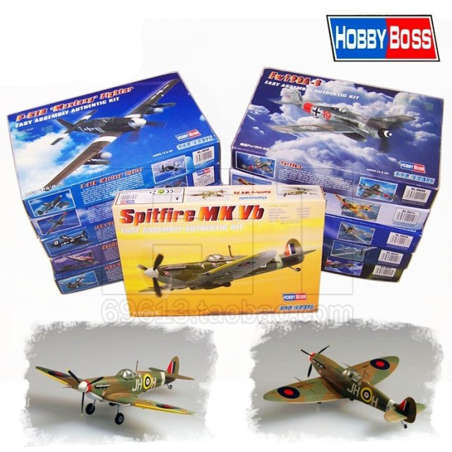 1:72 Scale Assembled Military Aircraft Model 1/72 WWII Fighters Fighter Collection Variety