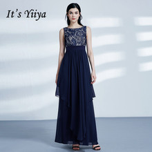 Its Yiiya Bridesmaid Dress Elegant Chiffon Sleeve Vestido Madrinha Plus Size Ankle Length Dresses Women Party for Girls C497