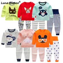 Kids Suits Pants-Sets Pajamas Baby Clothing Girls Baby's Boys Autumn O-Neck Cotton 6m-5-Years