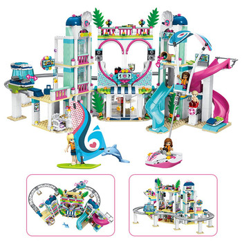 New Lepining girl Friends hospital Heartlake City Resort 41347 Top Hotel Building Blocks Kit Kids Fun Toys Set for Girls gifts 2