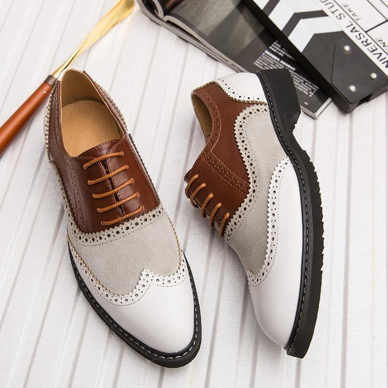 2019 Classic Business Men's Dress Shoes Fashion Elegant Formal Wedding Shoes Men Slip On Office Oxford Shoes For Men Big Size 46