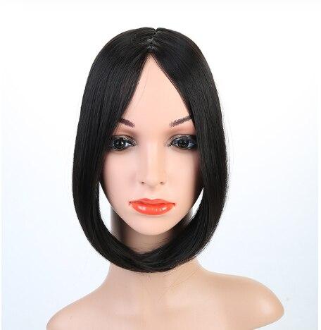 HOUYAN, модные длинные волосы на заколках спереди, боковая бахрома, накладные волосы, настоящие натуральные синтетические волосы с челкой - Цвет: 2