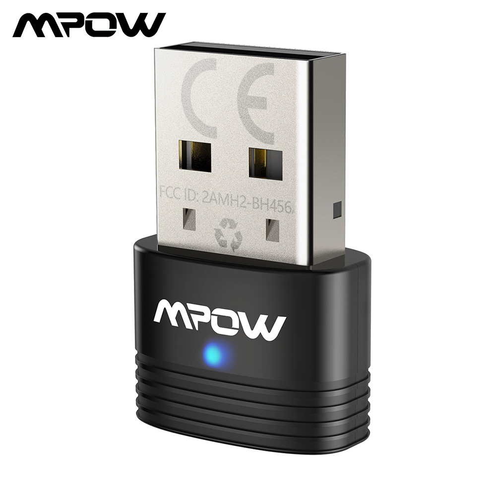 Mpow Bluetooth 5,0 USB Adapter Wireless Bluetooth Dongle Empfänger Sender 2 in 1 Audio Adapter für PC Laptop Maus Headsets
