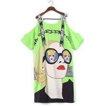 清mo女性グリーン美容プリントtシャツドレスの女性のドレス夏の女性の手紙リボンドレス2021 ZQY703