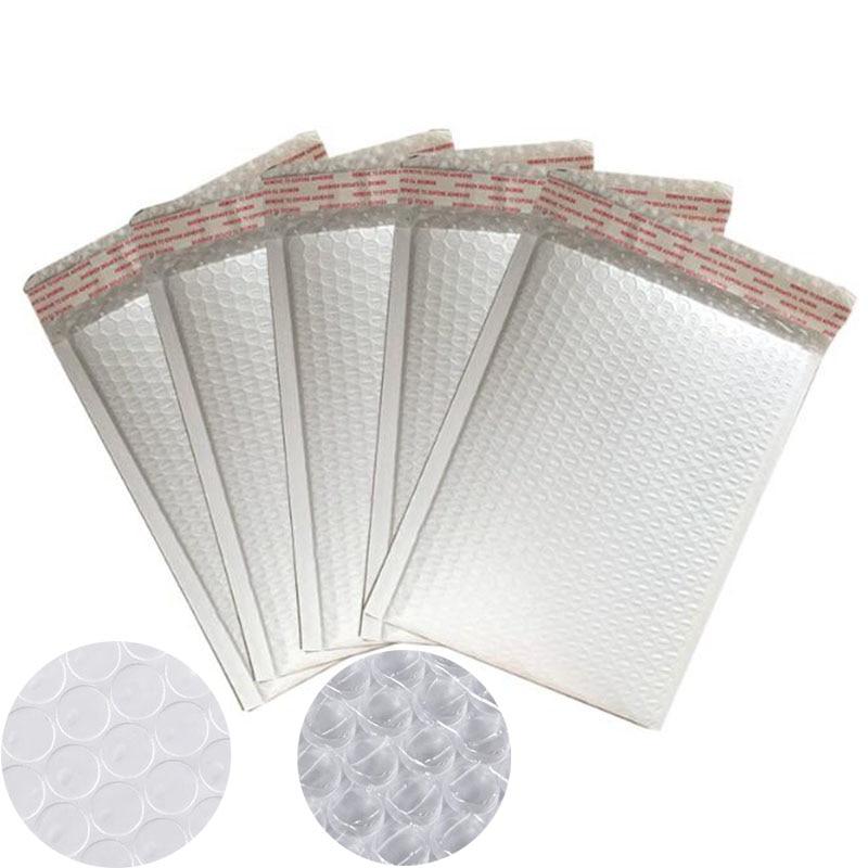10 Pcs / Hand, High Quality White Foam Envelope Bag All Specifications Postal Sender Envelope Stationery Bubble Bag On Sale