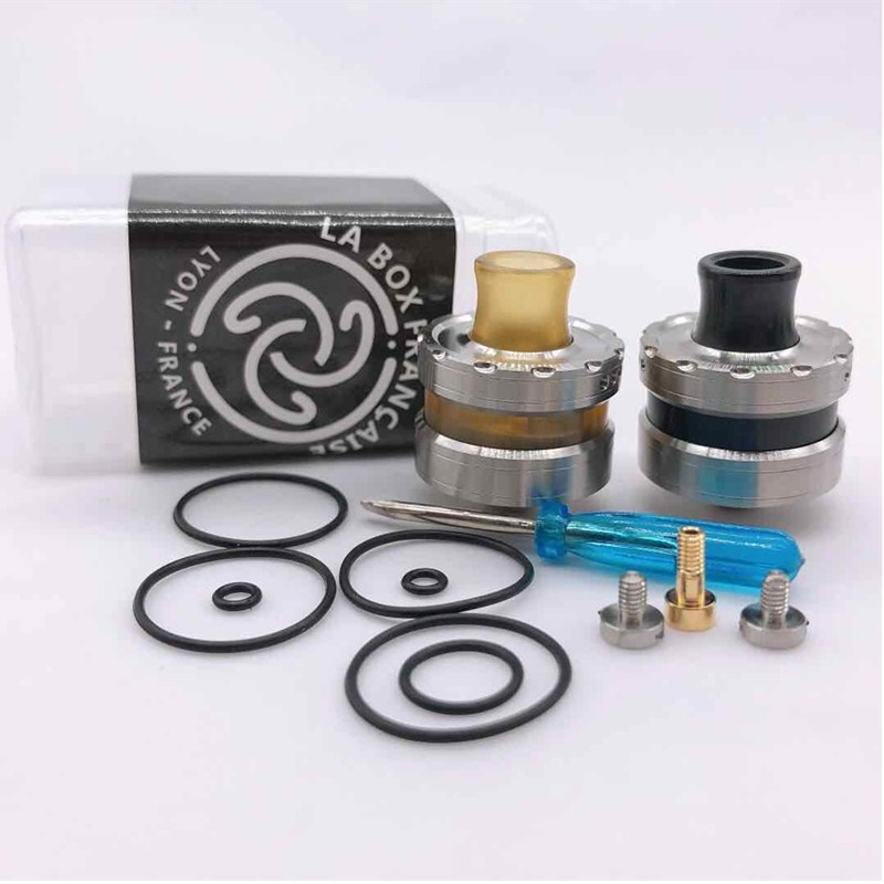 LA Dripper <font><b>RDA</b></font> Atomizer e-Cigarette Atomizer Tank <font><b>22mm</b></font> Rebuildable Drops Adjustable with pin BF vs <font><b>goon</b></font> <font><b>rda</b></font> image