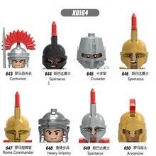 Строительные блоки, герои, кирпичи, средневековые рыцари, арводесина, Римский командир, фигурки для детей, игрушки Head X0164