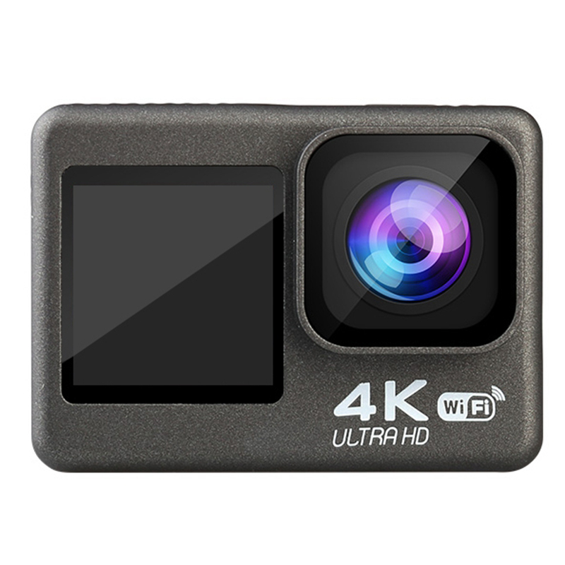 4K / 60Fps 2.0 Inch +1.3 Inch Dual Screen Action Camera 170° Underwater Waterproof Helmet Go Sports Pro Vlog Camera