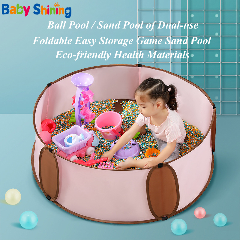 Baby Shining Children's Foldable Ball Pool Baby 6months-3years Indoor Ocean Ball Pool Diameter 120CM/47IN Tent Fence Game Pool