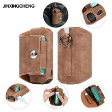 JINXINGCHENG New 5 Colors Wallet Holder Leather Case for iqos 3.0 Flip Buckle Double Book Cover for iqos3 Pouch Bag
