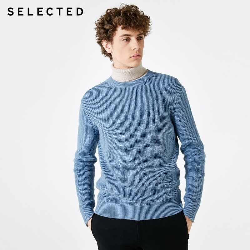 เลือกผู้ชายฤดูหนาวแคชเมียร์ Blend เสื้อกันหนาวเสื้อผ้ารอบคอถักธุรกิจ Casual เสื้อกันหนาว S   418425531
