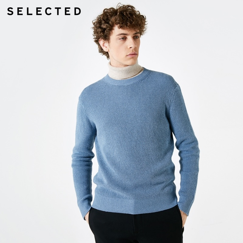Image 2 - SELECTED Mens Winter Cashmere blend Pullover Clothes Round 