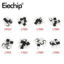 40 Stks/set Spanningsregelaars Ic 220 L7805/7806/7809/7812/7815/7905/7909 LM317T mosfet Transistor Assortiment Kit