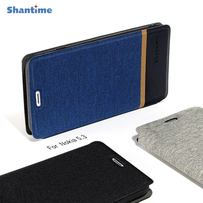 Деловой холщовый чехол для Nokia 5,3, чехол, откидной кожаный мягкий силиконовый чехол с подставкой для Nokia 5,3, чехол для телефона|Чехлы-портмоне|   | АлиЭкспресс