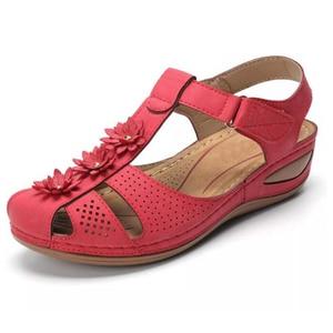Image 3 - BEYARNEPlus size fashion flower summer sandals for women wedge beach shoes Woman Comfortable high heel shoes lightweight platfor