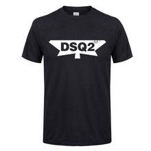 2020 New DSQ2 Letter Casual T-shirts Men Summer Printed Tops Tee Cotton Short Sleeve Tshirt Harajuku T shirt Streetwear T-shirt(China)