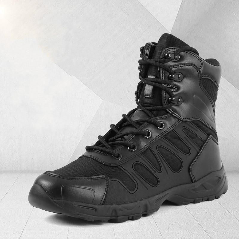 Мужские ботинки в стиле милитари из специальной кожи; водонепроницаемые мужские ботинки в стиле пустыни; Уличная обувь; рабочие ботильоны д...
