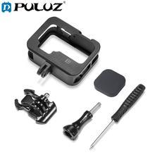 Puluz Kooi Voor Gopro HERO9 Black Metal Border Frame Mount Beschermende Case Shell Cover & Gesp Basic Adapter & Schroef accessoires