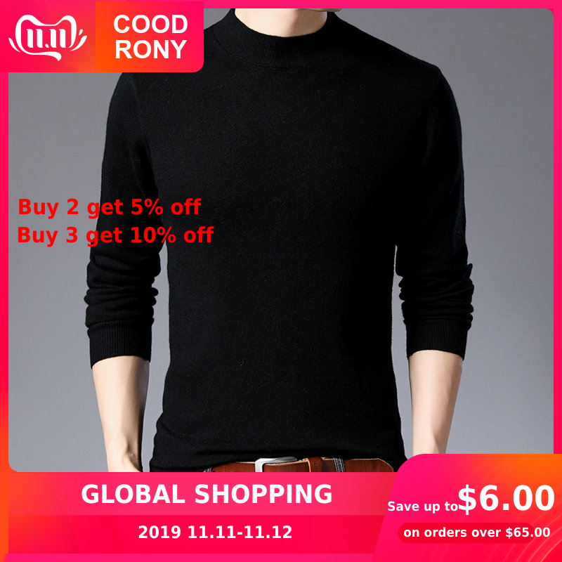 COODRONY Brand Sweater Men Casual Turtleneck Pull Homme Merino Wool Sweaters Autumn Winter Soft Warm Cashmere Pullover Men 93011