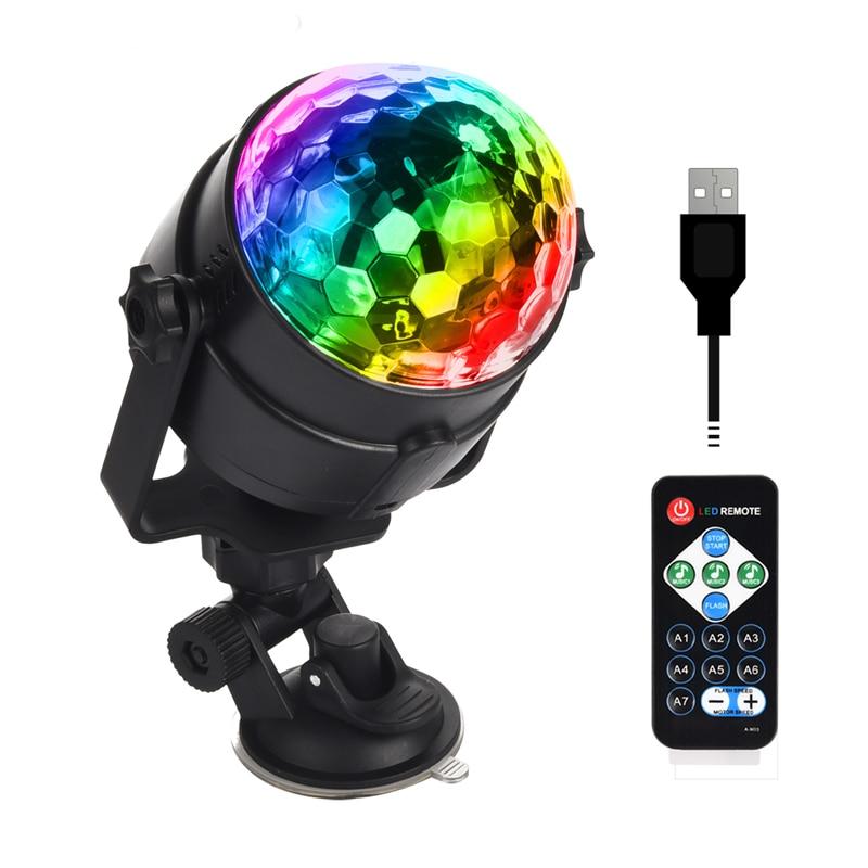 USB-прожектор для дискотеки с дистанционным управлением, 5 В