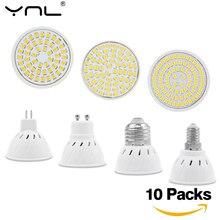 10 ชิ้น/ล็อต E27 E14 GU10 MR16 LED Spotlight AC 220V 240V Lamparas LED หลอดไฟประหยัดพลังงาน Ampoule เย็น WARM แสงสีขาว