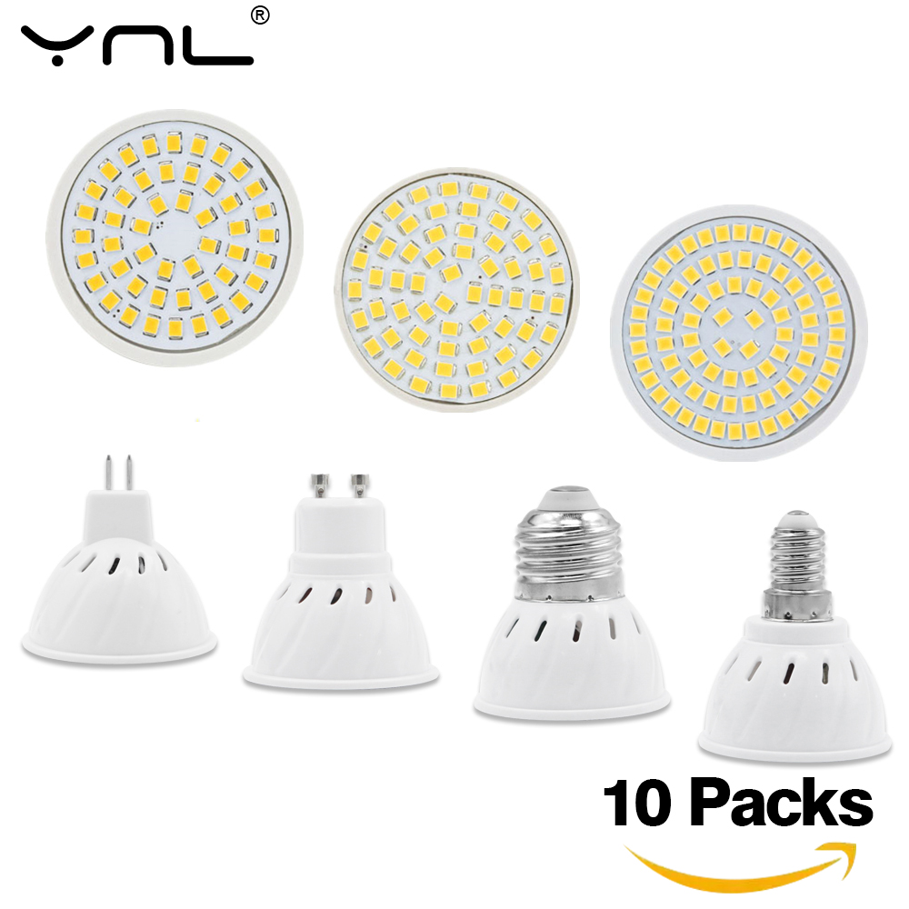10pcs/lot E27 E14 GU10 MR16 LED Lamp Spotlight AC 220V 240V Lamparas LED Bulb Energy Saving Ampoule Cold Warm White Spot Light