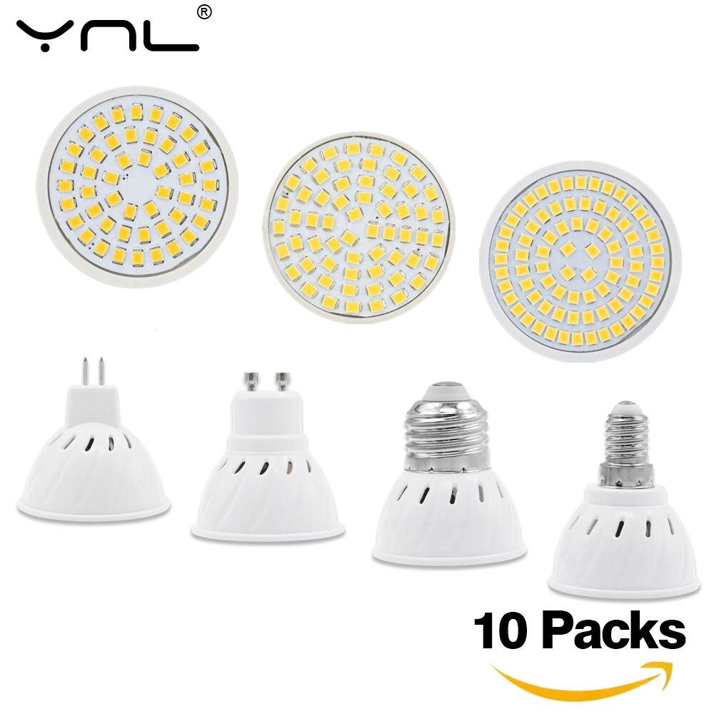 10pcs/lot E27 E14 GU10 MR16 LED Lamp Spotlight AC 220V 240V Lamparas LED Bulb Energy Saving Ampoule Cold Warm White Spot Light