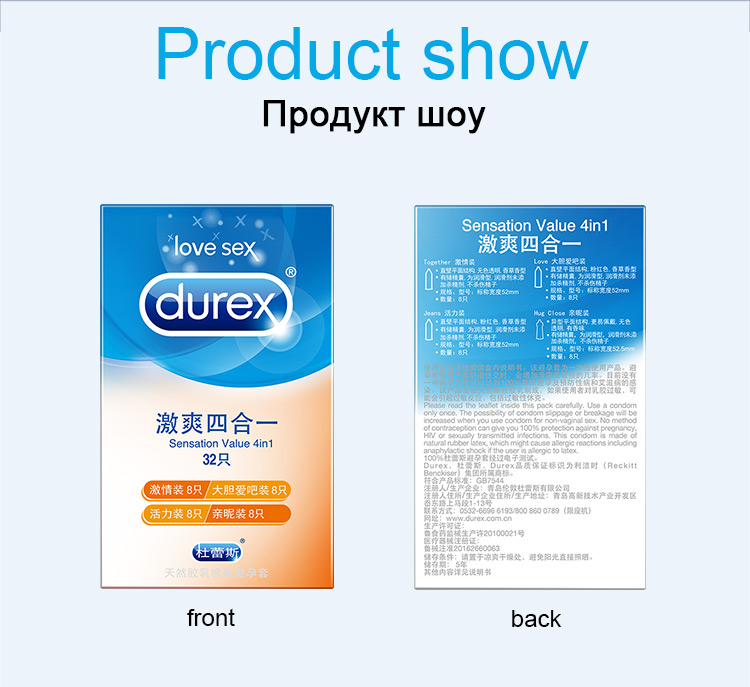 Durex Condom 100/64/32 Pcs Box Natural Latex Smooth Lubricated Contraception 4 Types Condoms for Men Sex Toys Products Wholesale 9