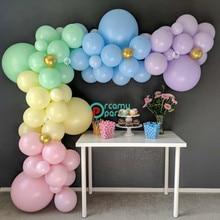 161pcs Pastel Balloon Garland Rainbow DIY Kit Macaron Candy Color Kids Birthday Party Balloons Home Wedding Decor
