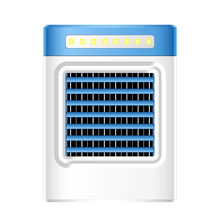 Usb-Fan Air-Cooler Air-Conditioning-Fan Portable Led-Lights Mini Home 10 Refrigerator