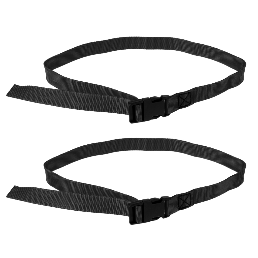 2pcs Adjustable Golf Trolley Webbing Straps Quick Release Suitcase Tie Down Belt Golf Training Aids