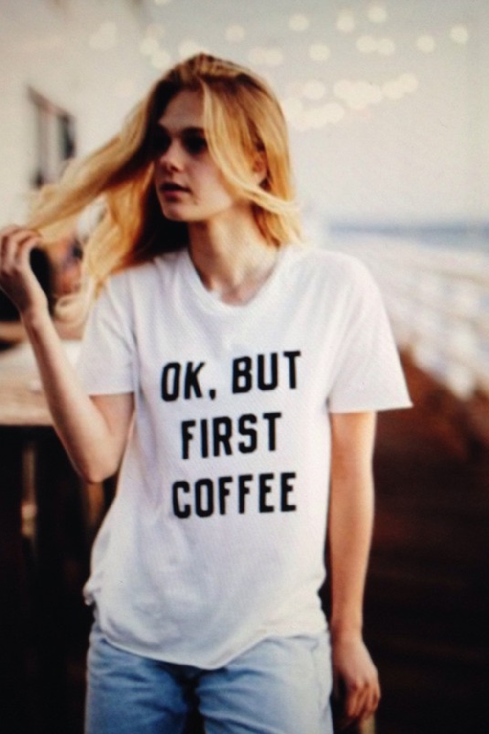 2019 new fashion Korean hot sale women's T-shirt pure cotton OK BUT FIRST COFFEE printed funny hip hop street clothes