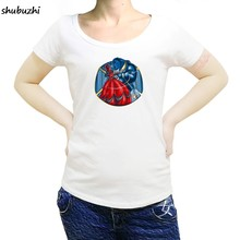 Beauty & The Beast T-Shirt - Deadpool and Xmen Mashup T-Shirt Cartoon women t shirt New shubuzhi tshirt Loose Size top sbz3071(China)