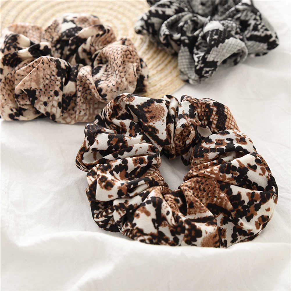 1PCS Vrouwen Scrunchies Snake Elastische Haarbanden Dames Stretch Paardenstaart Houder Print Hoofdband Hoofddeksels Haar Accessoires Hoofdband