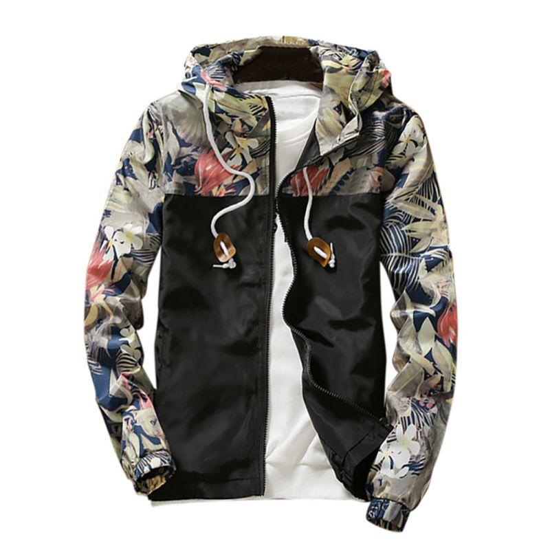 Men Autumn Winter Hooded Jacket Outwear Mens Folar Jackets Slim Fit Long Sleeve Homme Trendy Windbreaker Coat