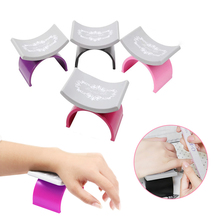 U Shape Nail Art Pillow for Manicure Hand Arm Rest Holder Soft Silicone Nail Palm Rests Stand Nail Tools
