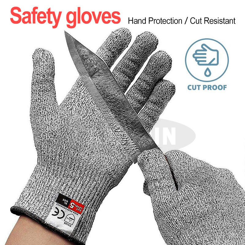 Anti-cut Gloves CE Standard Level 5 HPPE Cut Resistant Safety Gloves Protective Gloves For Men Women Children