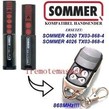 Гаражная дверь Sommer 868 МГц RF пульт Управление для дошкольного, 4020/4025/4026 868 МГц