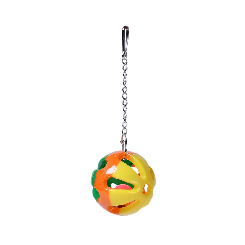 Pet Bird 3 Colored Ball Bites Toy Parrot Chew Ball Toys For Parrots Swing Hanging Bells Toy For Cockatiel Birds Cage Supplies in Bird Toys from Home Garden