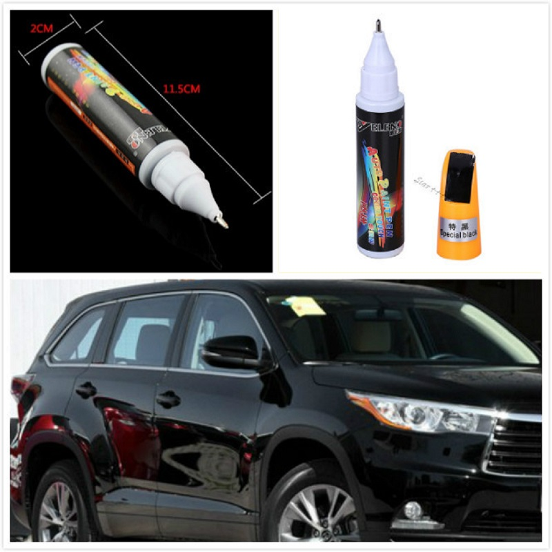 12ml Black Professional Car Paint care Repair Pens Waterproof Clear Car Scratch Remover Painting Pen Car styling