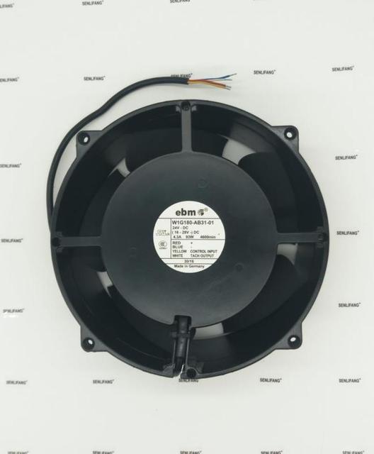 Frete grátis original alemanha ebm papst 20cm W1G180 AB31 01 24 v 4.3a 93 w ultra alta velocidade de alumínio quadro ventilador de refrigeração