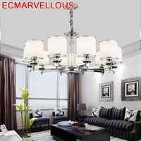 E colgante Para Sala De Jantar hanglame industrial Crystal Suspension luminaria Loft colgante Lampen moderna luz colgante