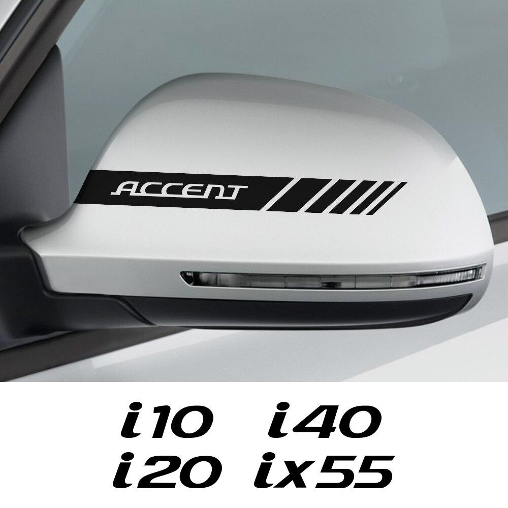 Наклейки на зеркало заднего вида автомобиля для Hyundai акцент крет EON горная i10 i20 i40 IONIQ IX25 IX55 KONA авто аксессуары виниловые наклейки