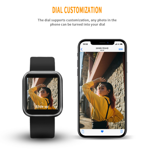 Najdłuższy inteligentny zegarek P80 pełny ekran dotykowy tętna opaska sportowa mężczyźni kobiety pomiar podczas snu Bluetooth Smartwatch dla iOS Android