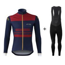 Le col теплая зимняя флисовая одежда для велоспорта 2020 новый