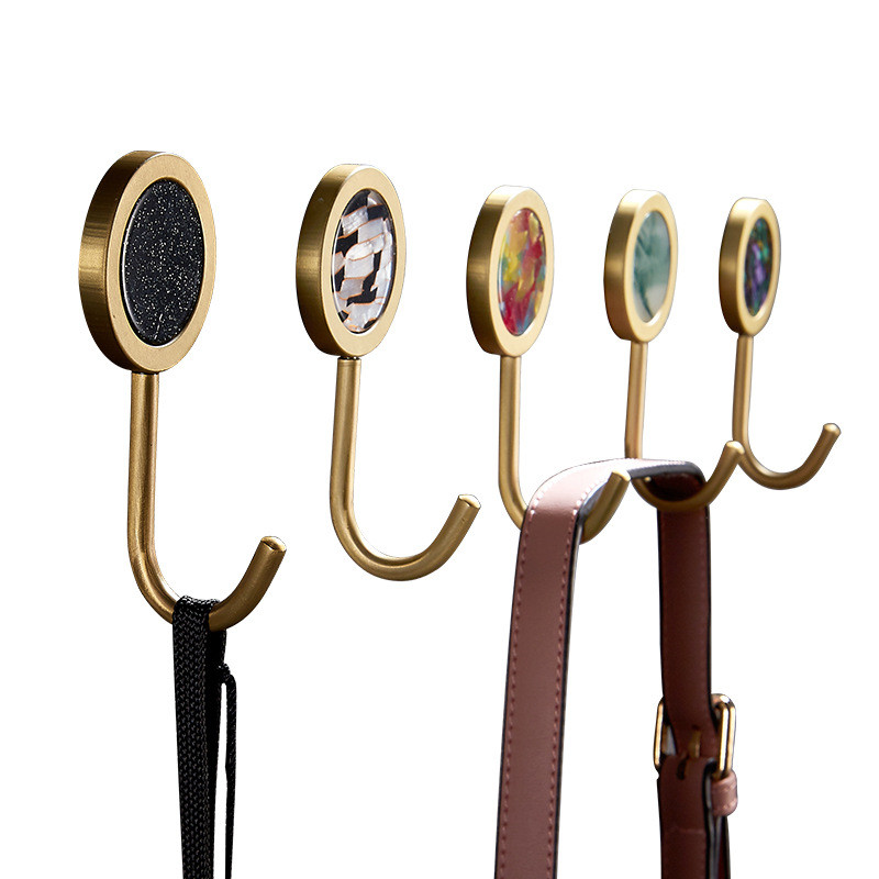 Colorful Brass Hooks For Bathroom Wall Hook Towel Hook Coat Hook For Wall Hat Hook Robe Hook Gold Hook For Bag Keys Small Hooks