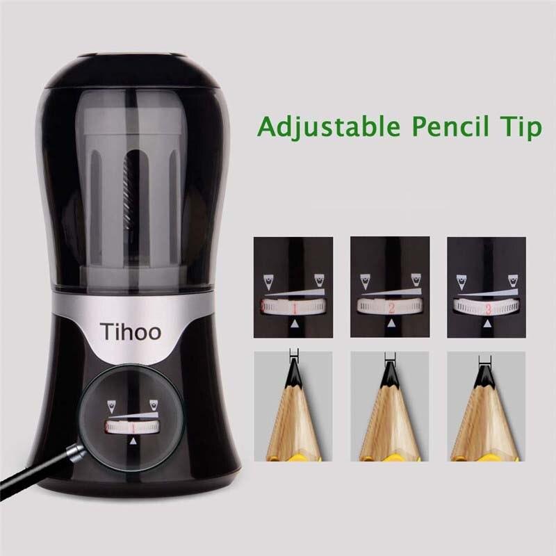 High Quality Automatic Mechanical Electric Pencil Sharpener Adjustable Pen Tip 8017 Sharpener Taille Crayon Puntenslijper
