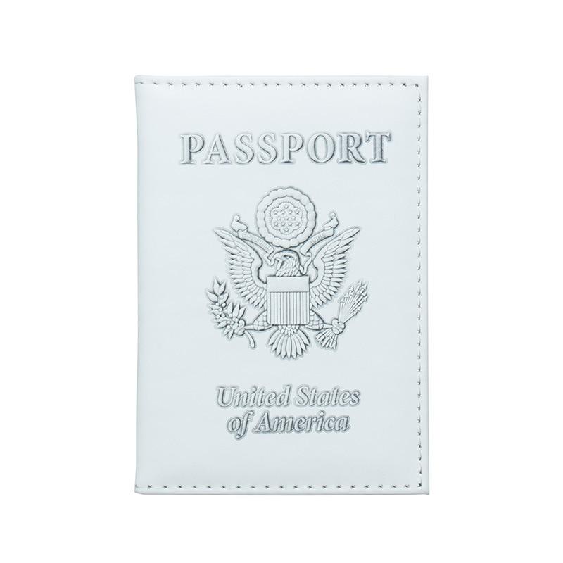 Zoukane USA American White Eagle Passport Cover Case ID Ticket Holder Passport Wallet Travel Accessories ZSPC41