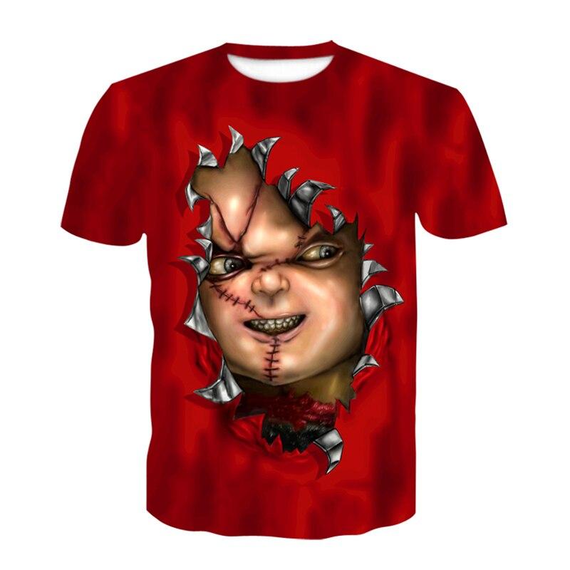 Casual Joker 3D Print Tshirt Men/Women Hip Hop Streetwear Tee Fashion T Shirt Clown Boys Cool Clothes Man Tops